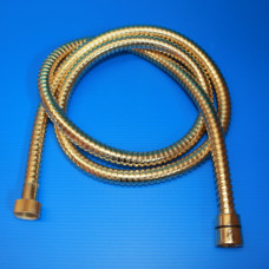Flexible de douche doré Longueur : 2 mètres